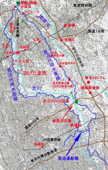 見沼代用水サイクリングコース 地図